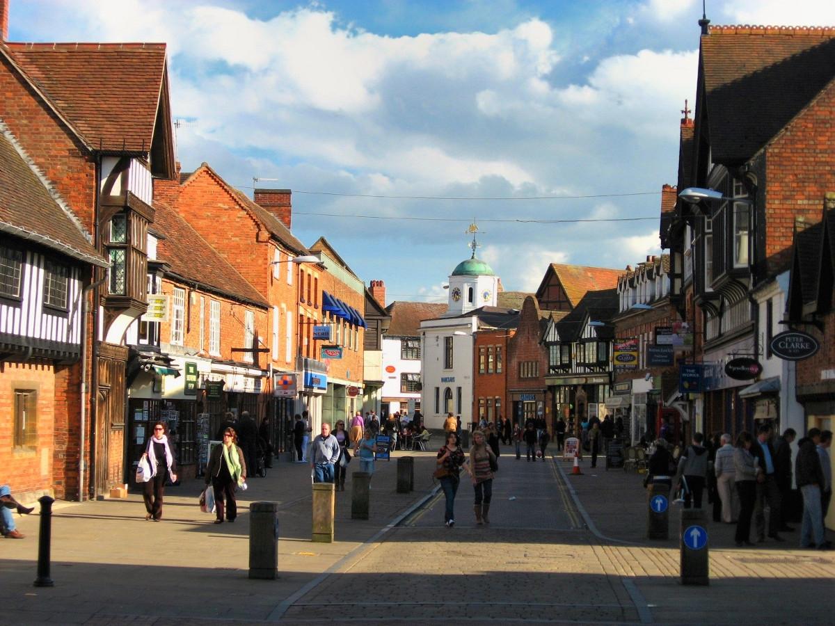 Henley Street, Stratford Upon Avon. Credit Gambitek