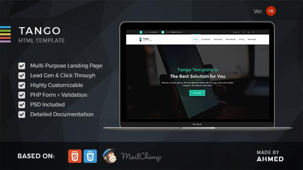 Tango v1.5 - Responsive Multi-Purpose Landing Page