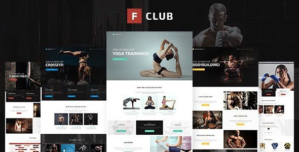 FightClub v1.3 – Premium Crossfit Mma Bodybuilding Fitness & Yoga WP Theme