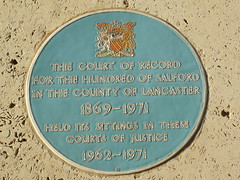 A Plaque at Manchester Crow Magistrates Court
