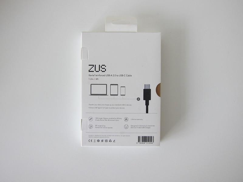 ZUS Super Duty USB-C Cable - Box Back