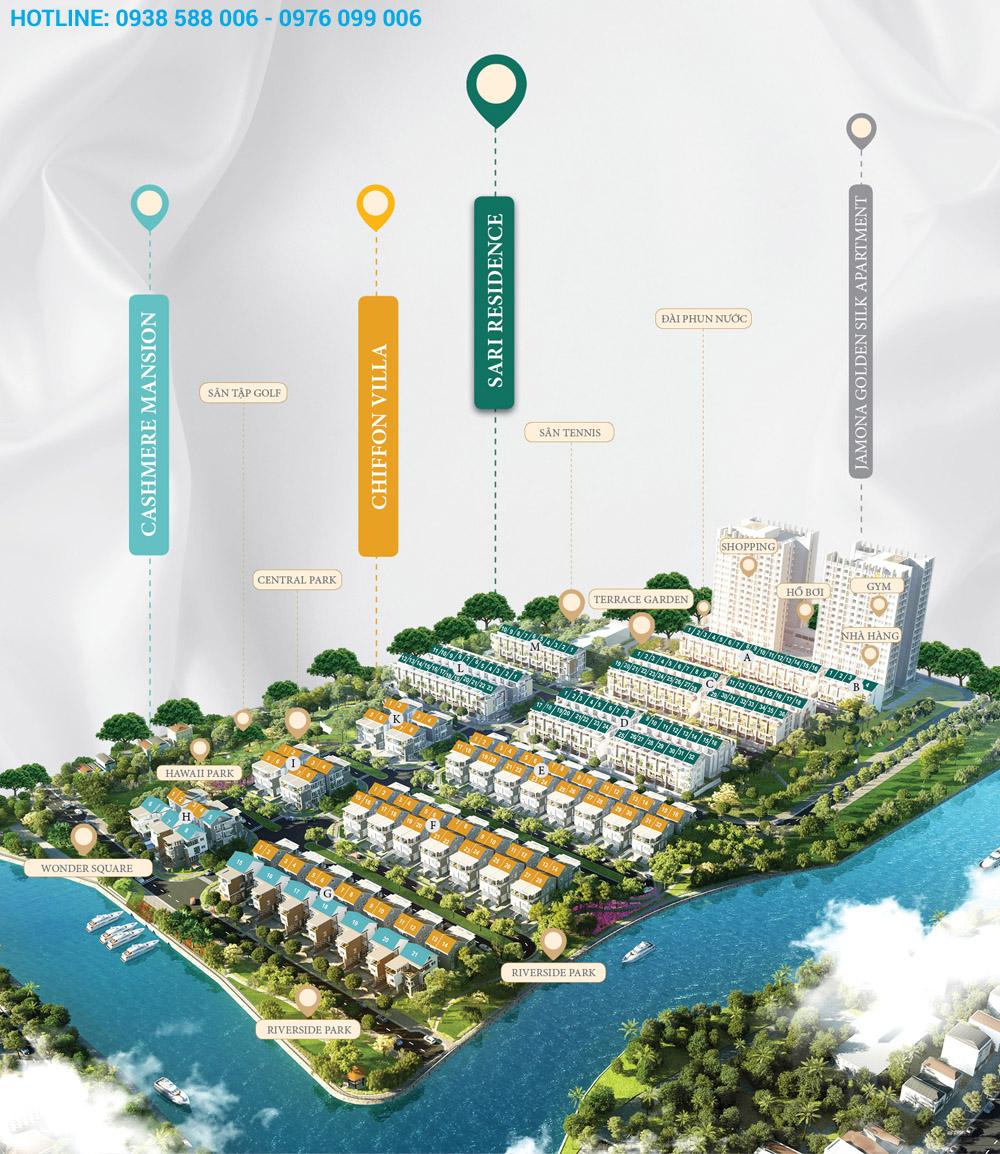 Phân bổ tiện ích trong dự án Jamona Golden silk quận 7.