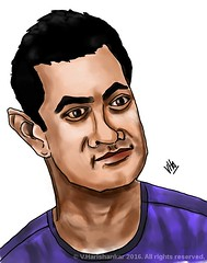 Caricature of Aamir Khan