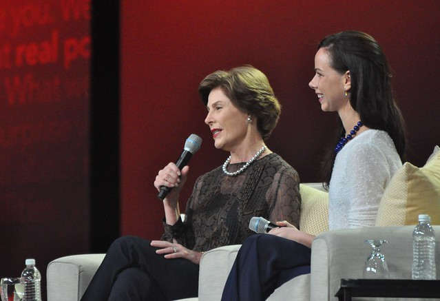 """Take advantage of your life as it is and walk on the beach every chance you get,"" Laura Bush said to the AARP Life@50+ Boston audience, May 9, 2014."