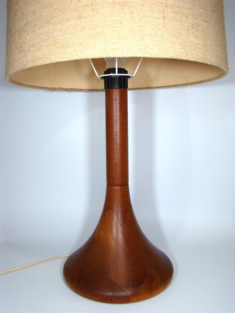 60er 70er teak holz tisch lampe danish modern organic wood table lamp vintage ebay. Black Bedroom Furniture Sets. Home Design Ideas