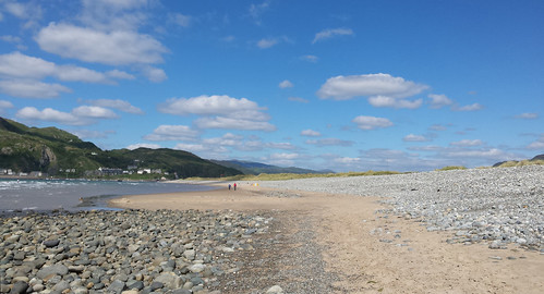 View from the end of Fairbourne spit