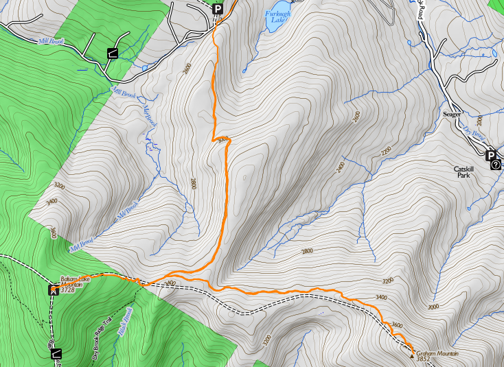 Map of the hike