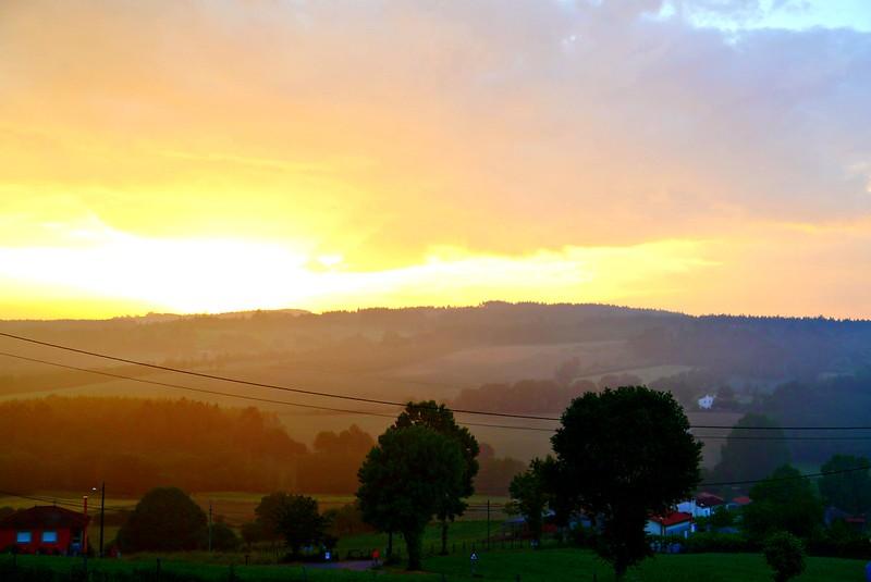 sunrise on Camino de Santiago
