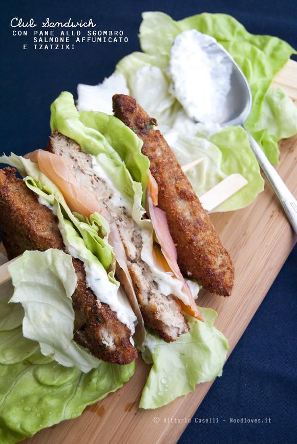 Club Sandwich sgombro salmone tzatziki
