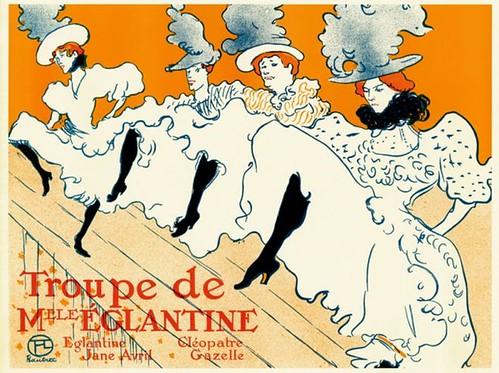 Troupe de Mlle Églantine - illustration de Toulouse-Lautrec