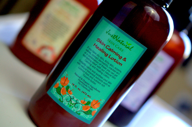 Just Natural Skin Calming and Healing Lotion