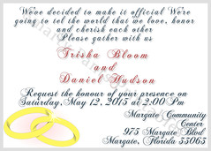 Wedding Rings Invite