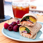 Spicy Salmon and Grilled Pineapple Wrap