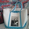 Promo swag now my best ever beach bag, with giant octopus patch by #CorinaDross