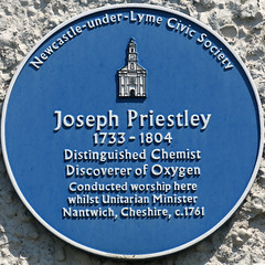 Photo of Joseph Priestley blue plaque