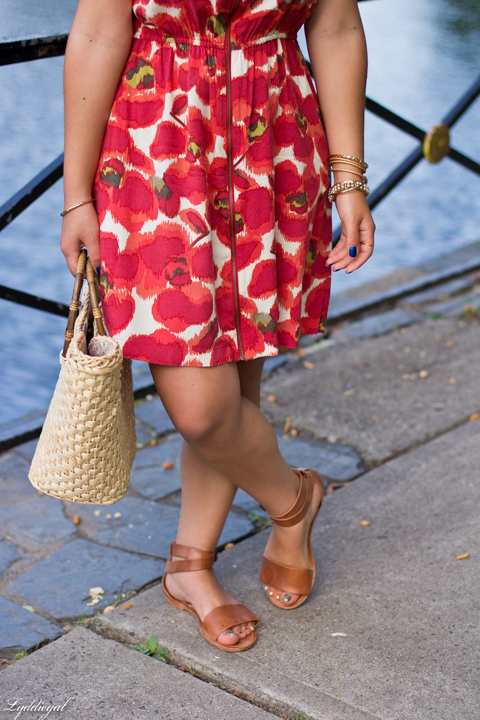 red floral dress, straw bag-6.jpg