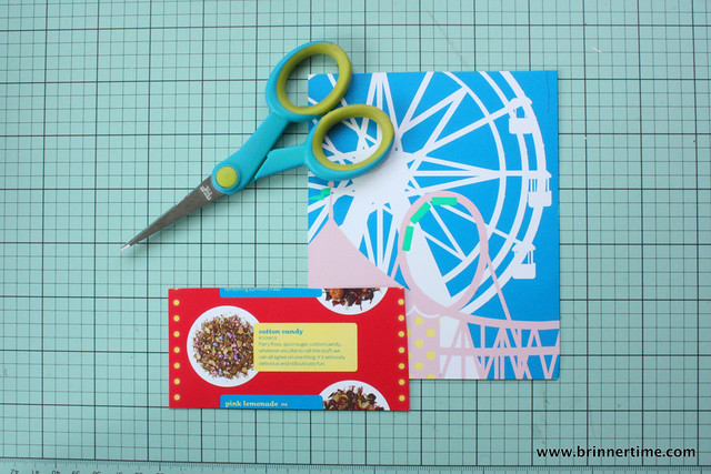 DIY gift tags from brochures