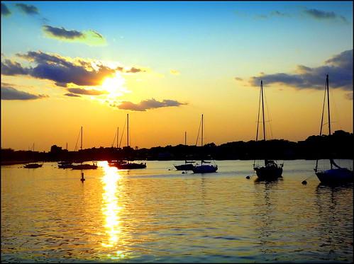 sunset newyork brooklyn image sheepsheadbay dmitriyfomenko sam62014
