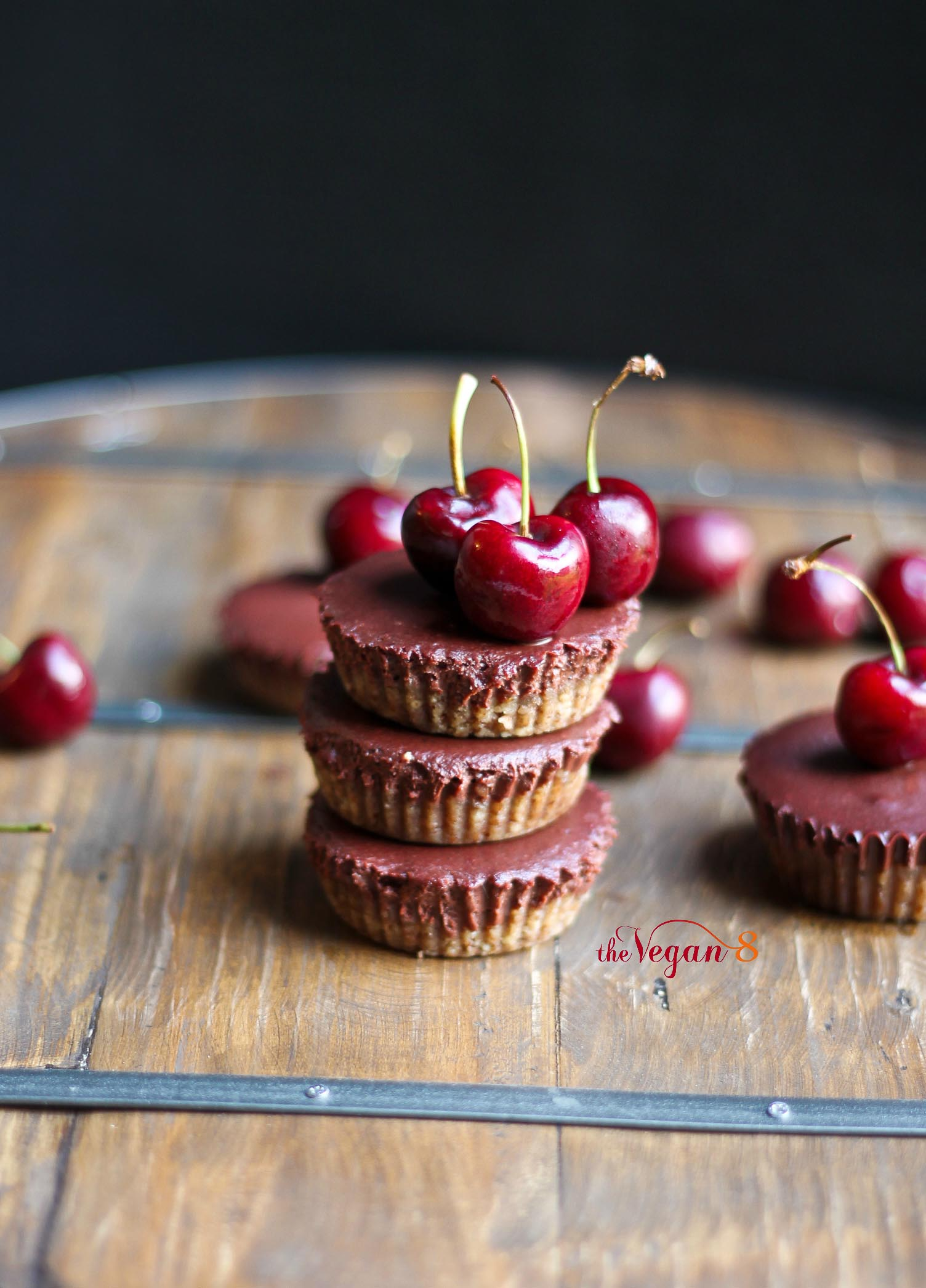 Mini Mocha Black Forest Cheesecakes