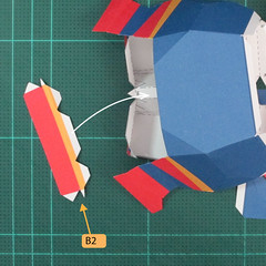 วิธีทำของเล่นโมเดลกระดาษซุปเปอร์แมน (Chibi Superman  Papercraft Model) 029