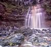 Laide Beach Waterfall