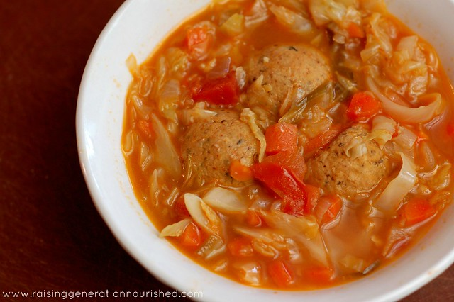 Italian Chicken Meatball Soup