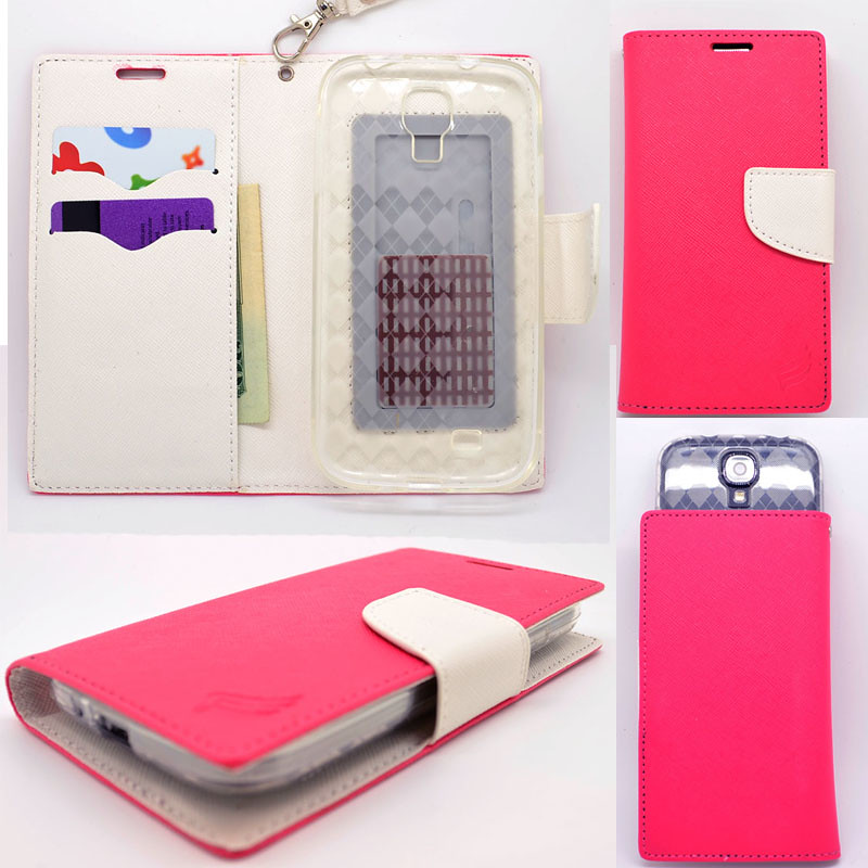 ... -Pink-Lotus-Universal-Wallet-Phone-Case-Pouch-Flip-Cover-For-Huawei