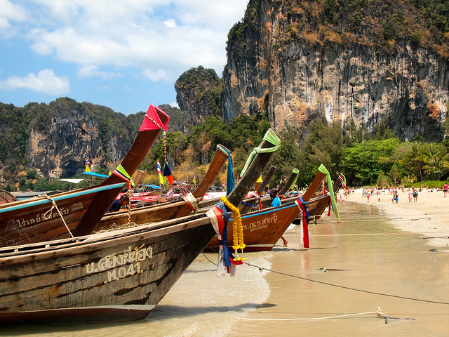 Longtail boats at Railay