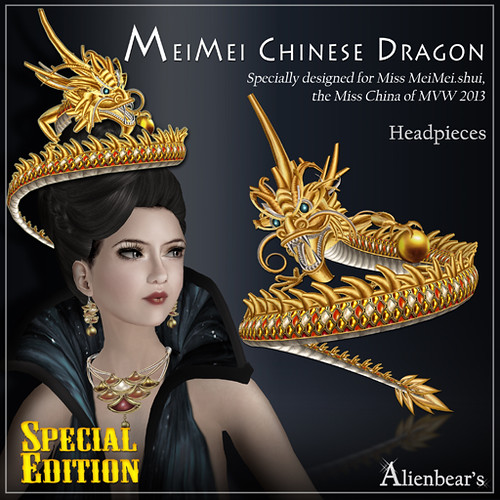 MeiMei Chinese Dragon Headpieces Special Edition