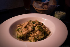 Risotto, broccoli, peas, herbs and soy.....homemad…