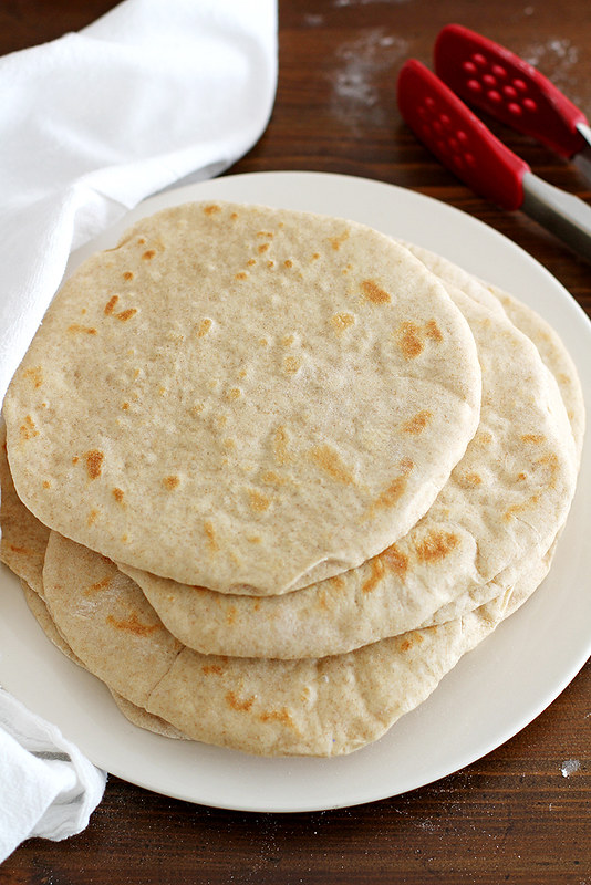 Homemade Soft Flatbread | girlversusdough.com