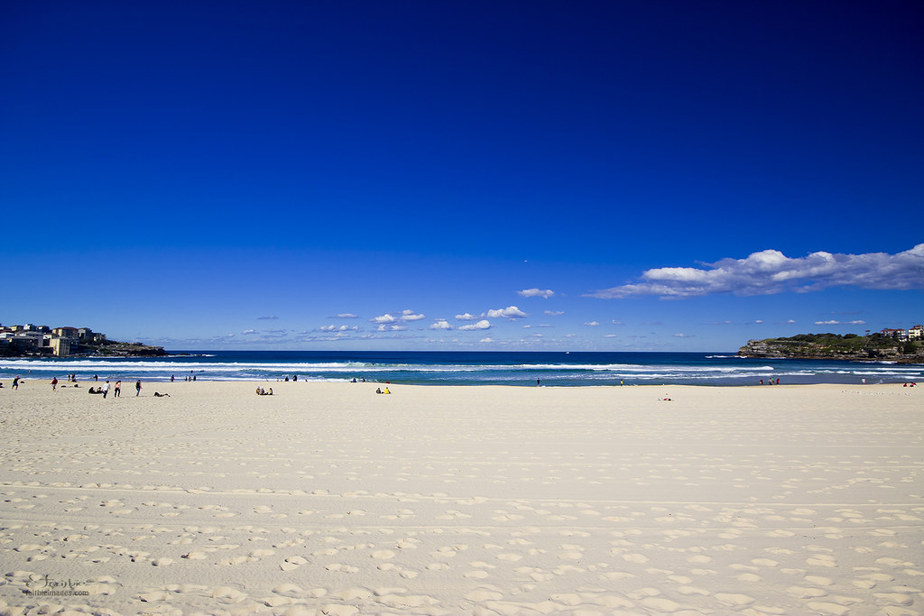 Gorgeous weather in Bondi beach in Sydney, Australia