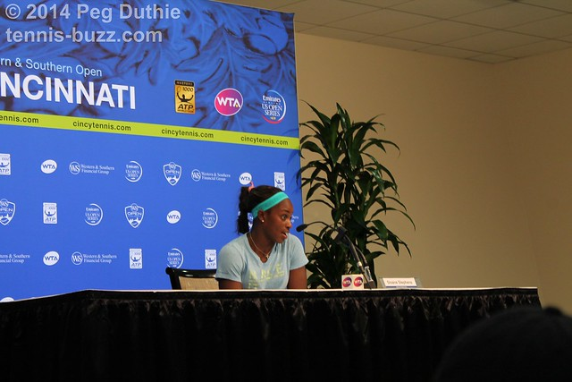 Sloane Stephens  2014 Western & Southern Open: press conferences pictures 14768854547 11d675b736 z
