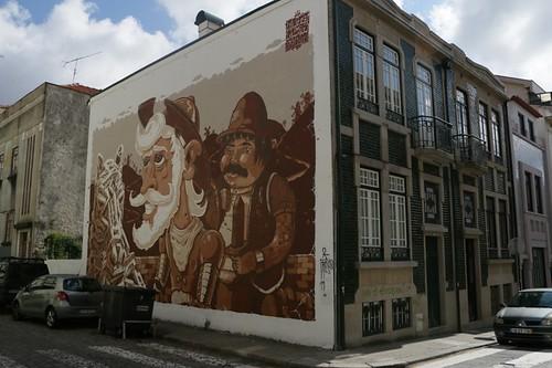 Street Art a Oporto: Don Chisciotte