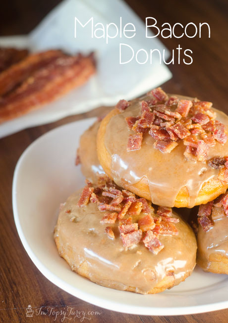 Homemade maple and bacon donuts are delicious and easy to make
