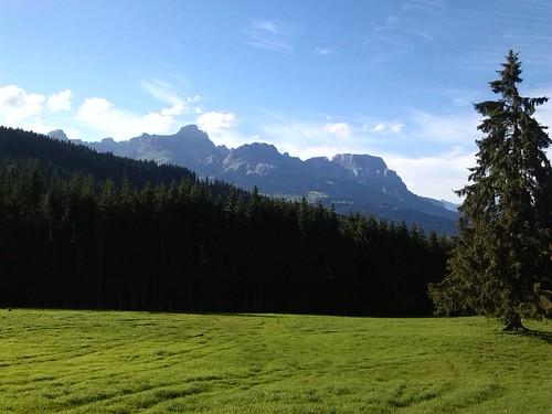 Vue de la Cry Cuchet. Combloux. Haute-Savoie.