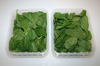 01 - Zutat frischer Blattspinat / Ingredient fresh leaf spinach