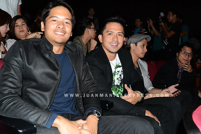DENNIS TRILLO WATCHING THE JANITOR. Dennis together with his fellow actors in the movie.