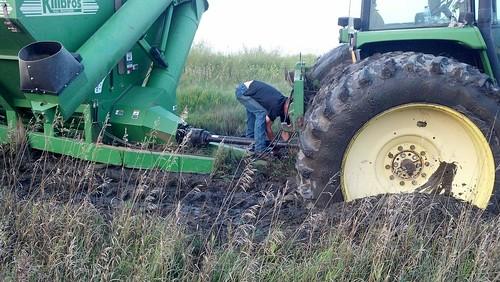 Tractor stuck