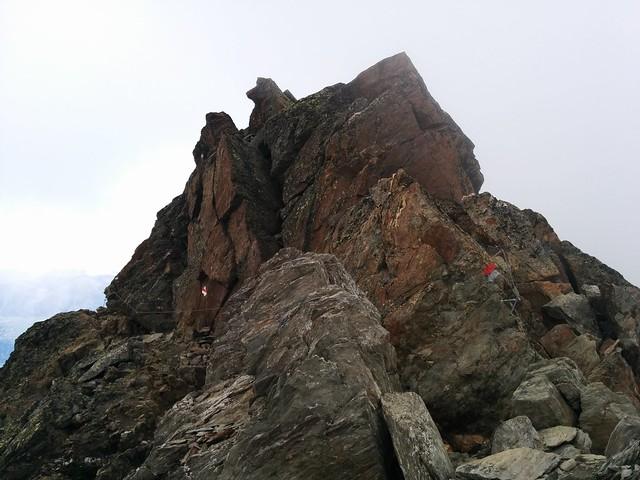 Aufstieg Hasenöhrl, Drahtseil-gesicherte Passage