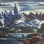 Collection of Tracy & Sushe Felix; Robert Huck_ watercolor_ 12 1_2_x19 1_2__ c.1940 -
