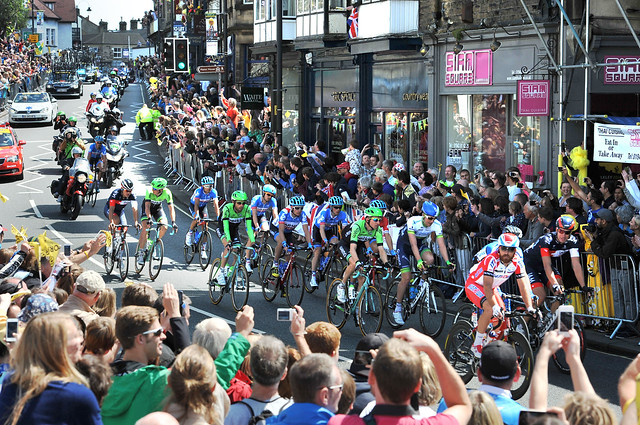 Tour de France through Ilkley.