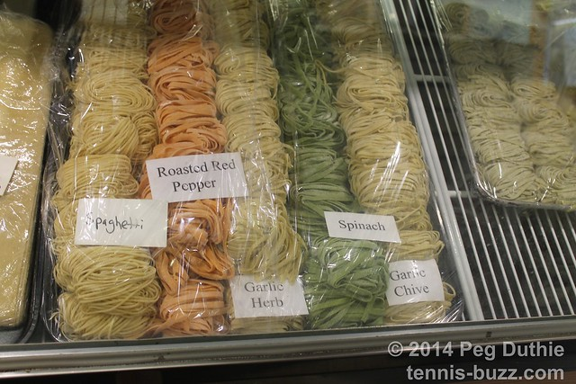 some of the pasta at Bouchard's