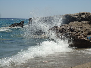 Image de Anidri Beach. sea rocks wind wave greece crete seaspray chania gianiskari
