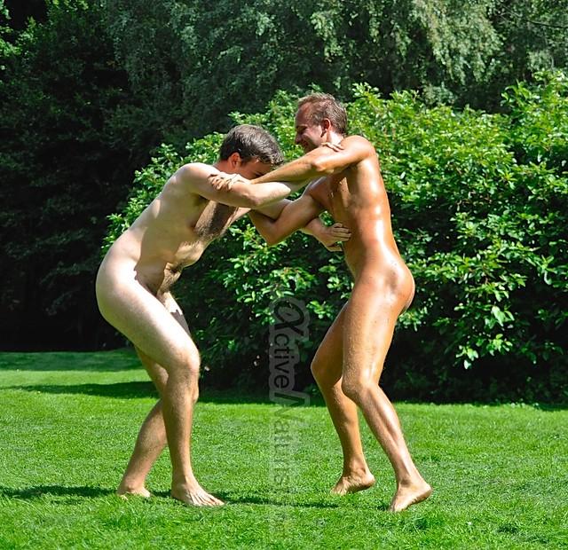 naked wrestling 0007 Tiergarten, Berlin, Germany