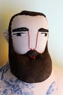 brown swirly beard