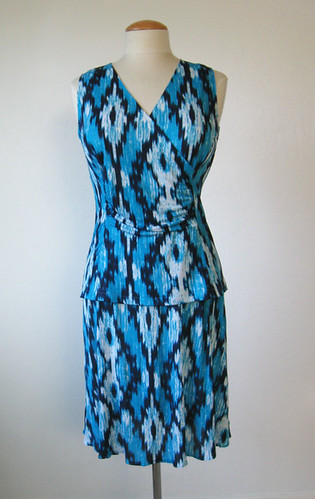 McCalls 6513 Ikat knit outfit front on form