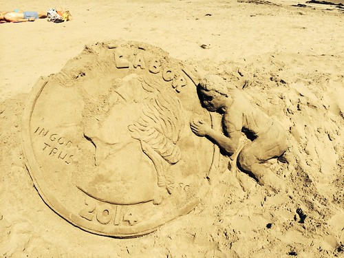 Coin Sand Sculpture