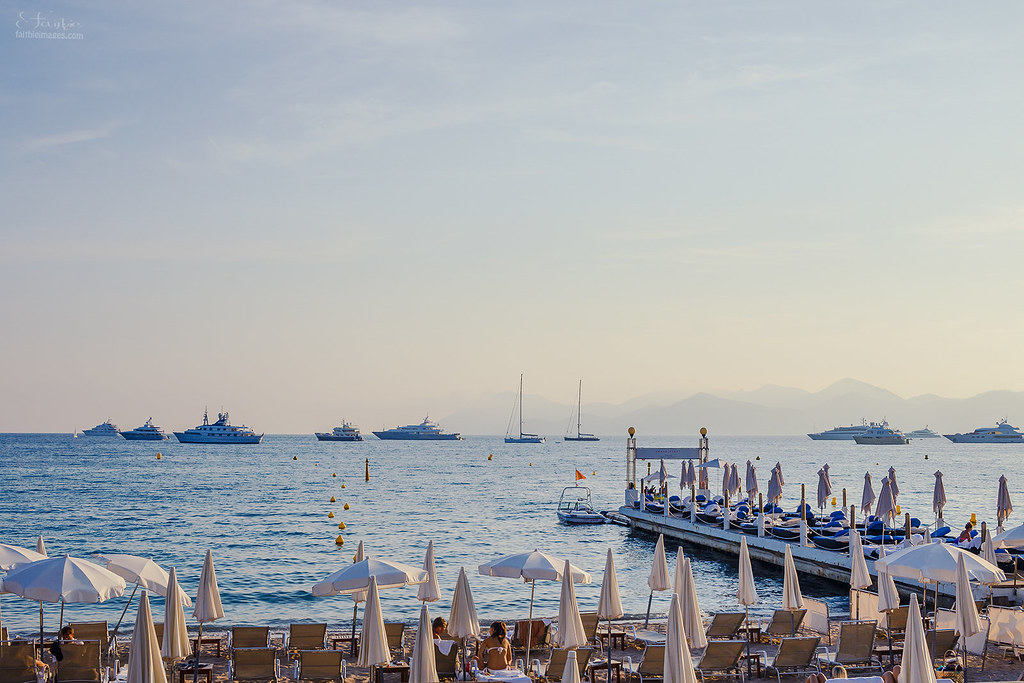 Luxury beach in Cannes