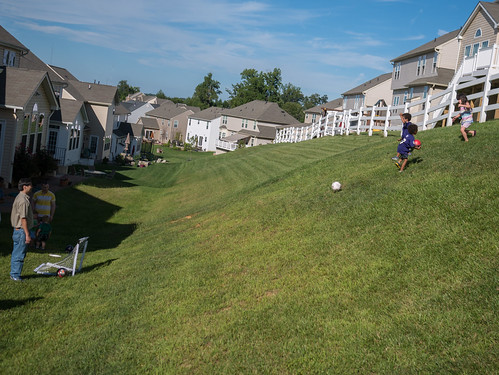 Hillside soccer bowling